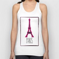 eiffel Tank Tops featuring Eiffel by Vintage Fox
