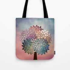 Abstract Petal Tree Tote Bag
