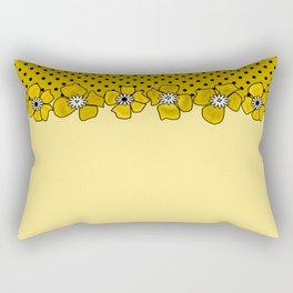 Yellow floral pattern . Rectangular Pillow
