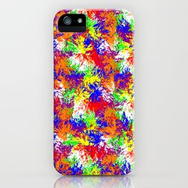 Vibrant Trippy Jiggle Pattern iPhone Case