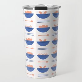 Asian Food Soup Bowl Vector Pattern Travel Mug
