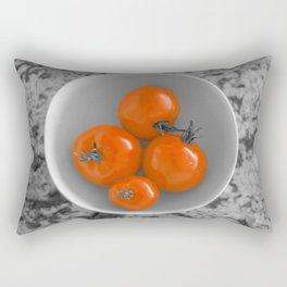 Ripe Red Tomatos in a Bowl Rectangular Pillow
