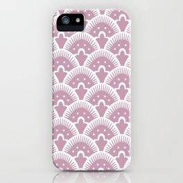Fan Pattern 431 Dusty Rose iPhone Case