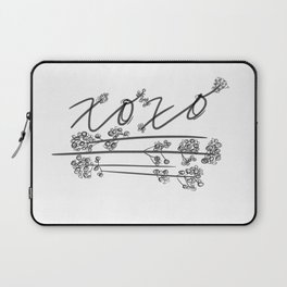 XOXO with Baby's Breath Laptop Sleeve