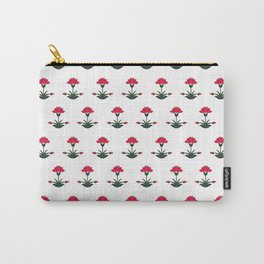 Mughal Flower Motif Carry-All Pouch