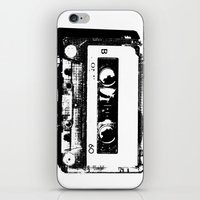 cassette iPhone & iPod Skins featuring cassette by Gabriel