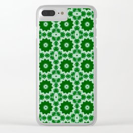 Green Doily Clear iPhone Case