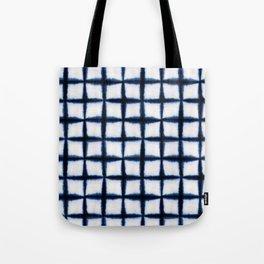 Shibori Squares Tote Bag