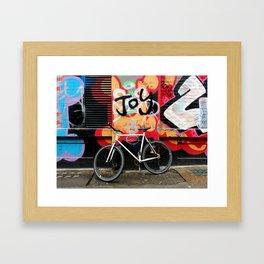 Joy & bike Framed Art Print