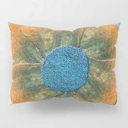 Orange flower on blue Pillow Sham