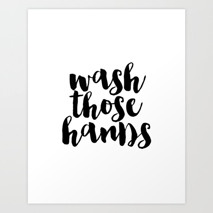 photo about Bathroom Sign Printable named Clean Individuals Palms fingers toilet artwork toilet indication printable hand lettered nursery decor small children Artwork Print by way of typohouseart
