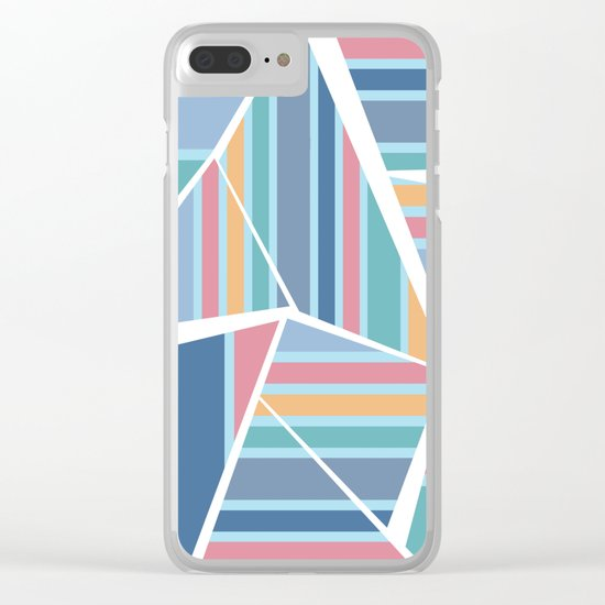 CRAZY STRIPES (abstract pattern) Clear iPhone Case