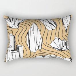 Crystal Line Art Rectangular Pillow