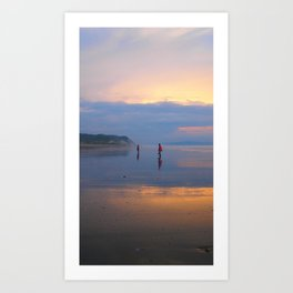 Couple on beach Art Print