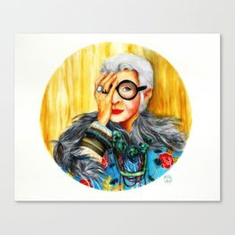 Iris Apfel.  Canvas Print