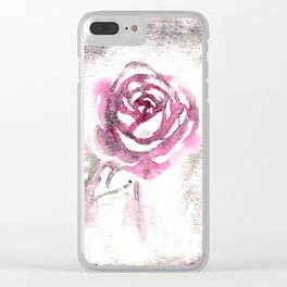 Red Red Rose Clear iPhone Case