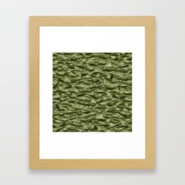 Crocodile camouflage Framed Art Print