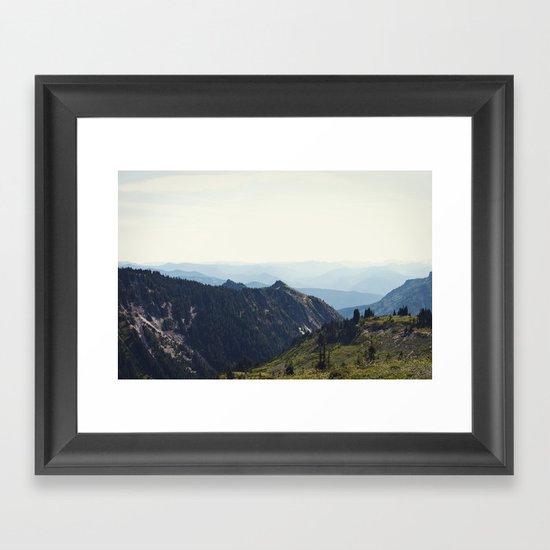 Sunny Mountain Framed Art Print