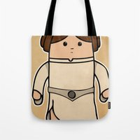 leia Tote Bags featuring Leia by thejrowe