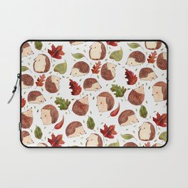 Autumn Hedgehogs Laptop Sleeve