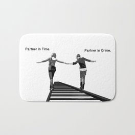 Partner in Time, Partner in Crime, Max Caulfield and Chloe Price Train Tracks Bath Mat