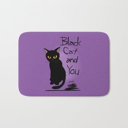 Black cat and you Bath Mat