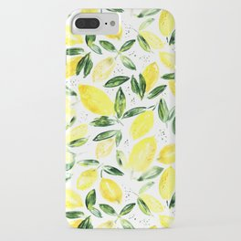 So luscious lemons || watercolor iPhone Case