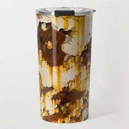 Peeling paint on rust. Travel Mug