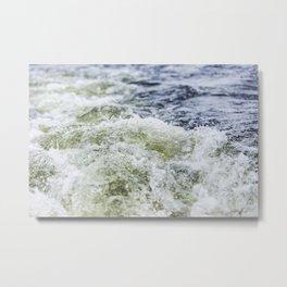 Turbulent Lake Water 9 Metal Print