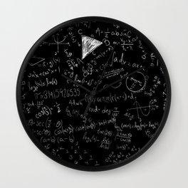 Math Cheat Sheet Wall Clock