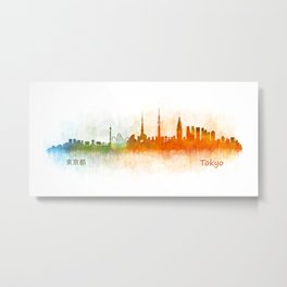 Tokyo City Skyline Hq V3 Metal Print