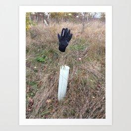 Lost glove Art Print