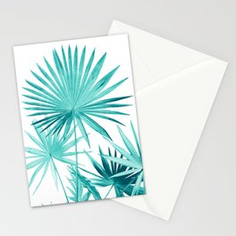 Fan Palm Leaves Jungle #3 #tropical #decor #art #society6 Stationery Cards