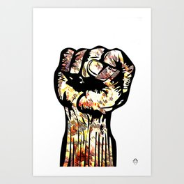Resist with Art  by Eric Stamps  Art Print