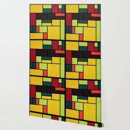 Mondrian Bauhaus Pattern #09 Wallpaper