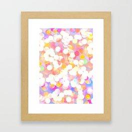 Bokeh Lights Framed Art Print