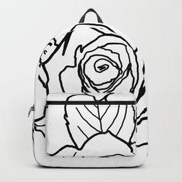 Feminine and Romantic Rose Pattern Line Work Illustration Backpack