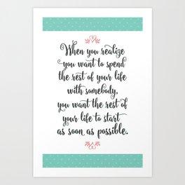 Quote from When Harry Met Sally Art Print