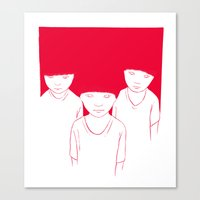 kids Canvas Prints featuring Kids by Black Bear / White Bear