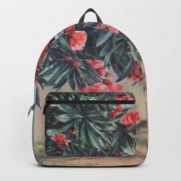 Oleander in the yard Backpack