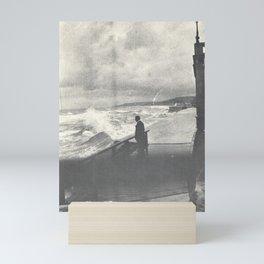 1914 Man by Ocean Surf Mini Art Print