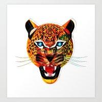 jaguar Art Prints featuring jaguar by Alvaro Tapia Hidalgo