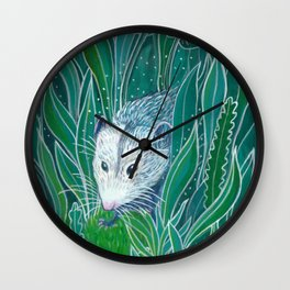 Opossum Magic Wall Clock