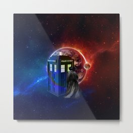 Tardis Dr Who of Nebula Metal Print