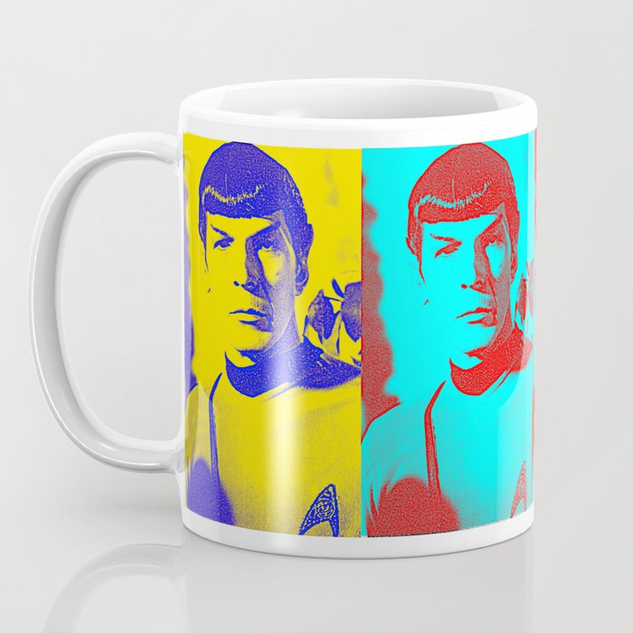 Science Officer Spock (Andy Warhol Remix) Coffee Mug