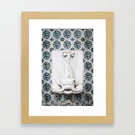 Fountain Fish Framed Art Print