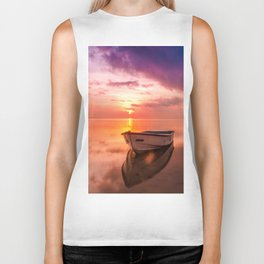 The Best Sunset Biker Tank