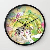 wedding Wall Clocks featuring wedding by Agata Kowalska