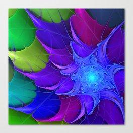 Artistic fractal abstract colour wheel Canvas Print