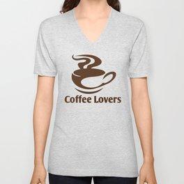 Coffee Lovers Unisex V-Neck
